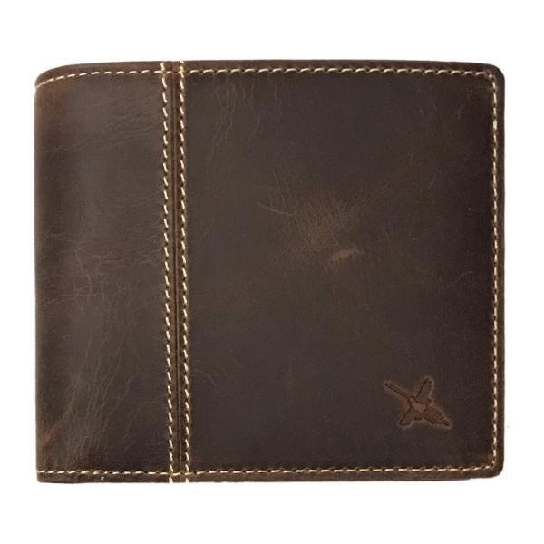 イタリアオイルレザー アンティーク仕上げ 二つ折り財布(財布 メンズ)(AinSoph アインソフ プレゼントにお勧め)(送料無料)|curicolle|05