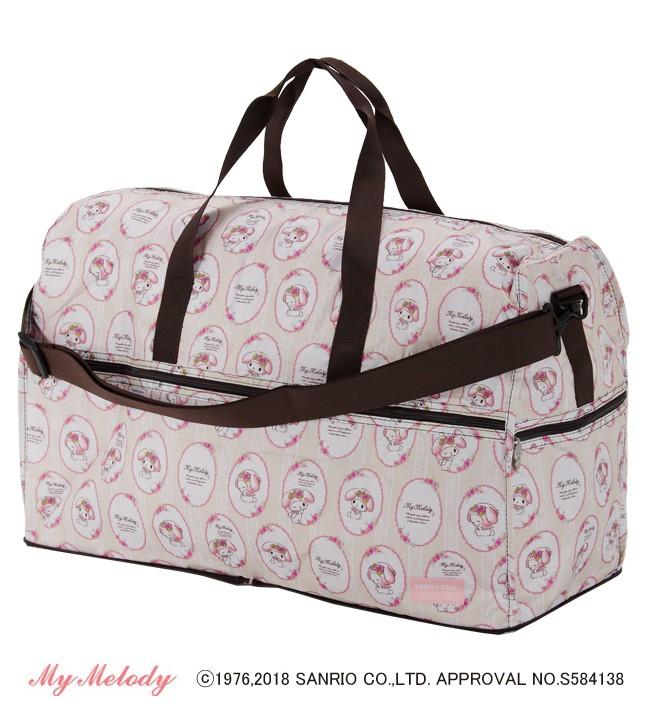 マイメロディ・キャリーオンバッグ・旅行・エコ・スーツケース・かばん・折りたたみバッグ・マイメロ