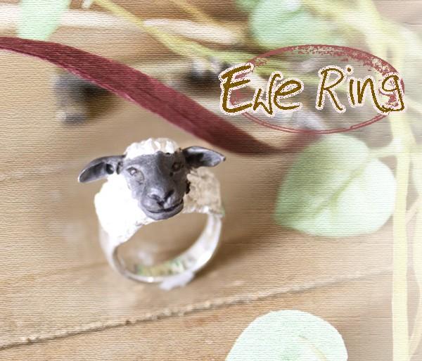 リング・指輪・羊・シープ・DECO・アクセサリー・シルバー・送料無料