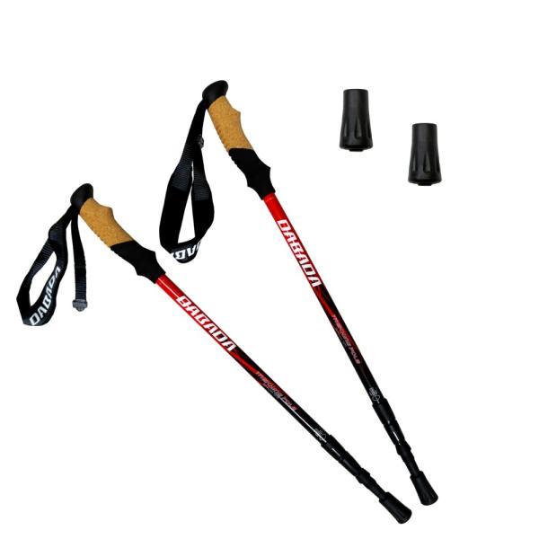 トレッキングポール 2本セット SGマーク取得 軽量220g 最少56.5cm アンチショック機能付 ラバーキャップ付き 登山杖 スノーシュー|dabada|13
