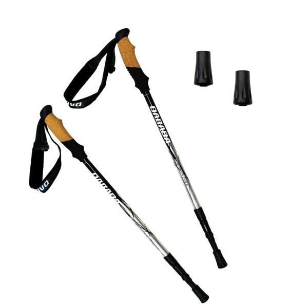 トレッキングポール 2本セット SGマーク取得 軽量220g 最少56.5cm アンチショック機能付 ラバーキャップ付き 登山杖 スノーシュー|dabada|11