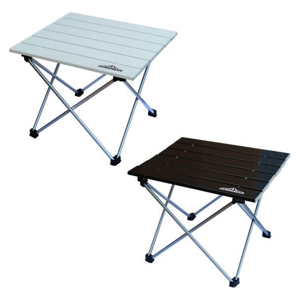 お買い得2セット 折りたたみアルミテーブル アウトドア 机 軽量 コンパクト ロールテーブル|dabada|13