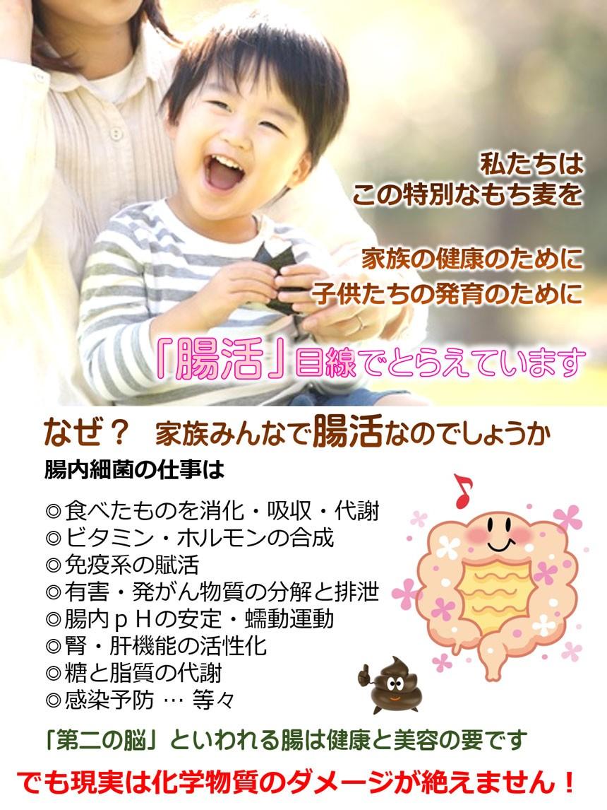 もち麦 子供 便秘対策 腸内環境の画像