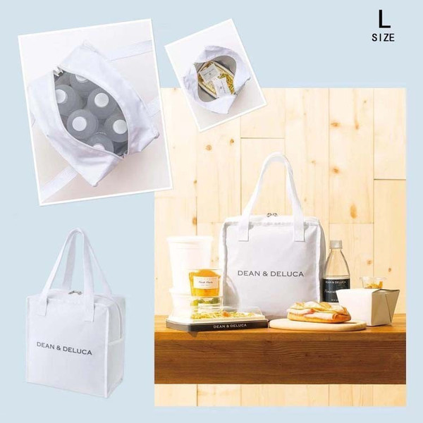 DEAN&DELUCA ディーン&デルーカ 保冷バッグ 保温バッグ ホワイト 3 size 送料無料 daimoon7 03