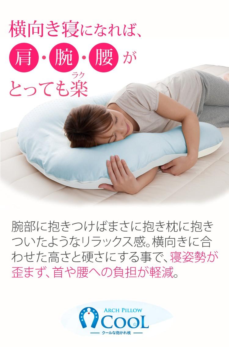 横向き寝に寝れば肩・腕・腰が楽に