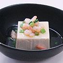 豆腐の海老餡かけ