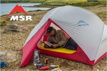 """""""MSRは、テント、ガソリンストーブ、タープ、キャンプにかかせないブランドです。"""
