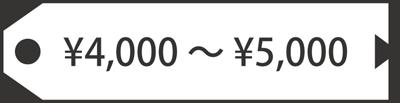 4000円-5000円