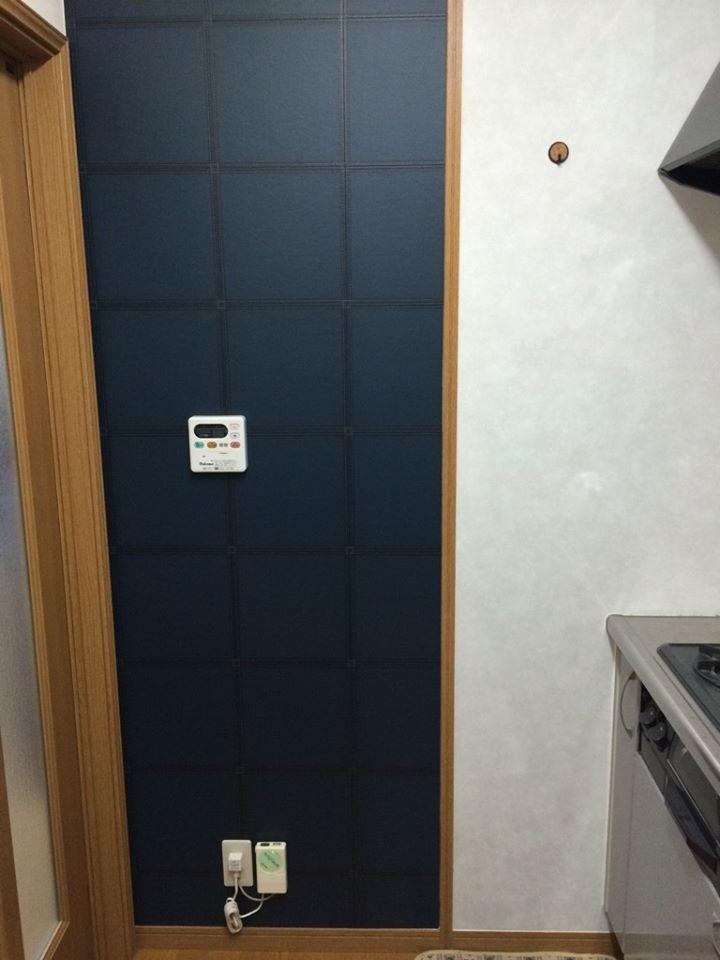 キッチン横の壁