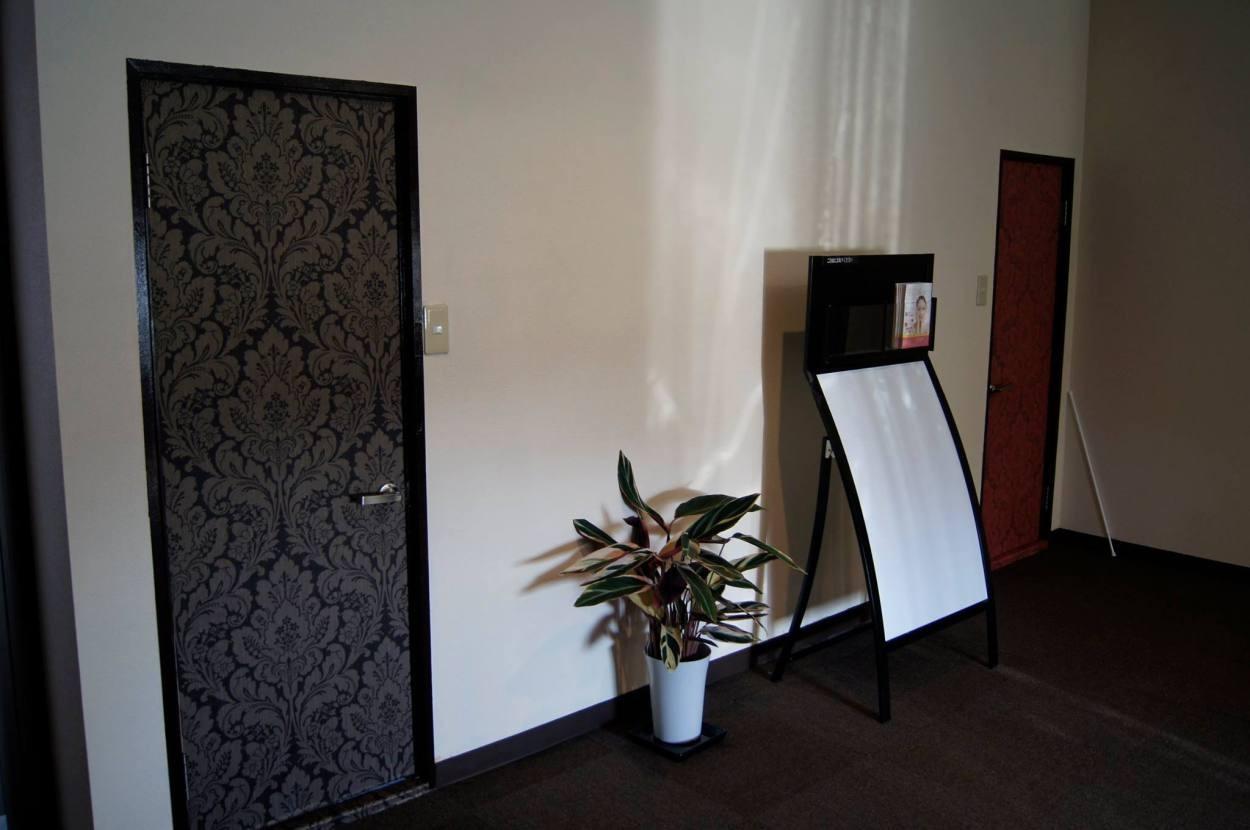 ドアに壁紙写真