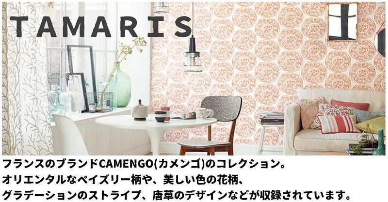 フランスのブランドCAMENGO(カメンゴ)のコレクション。 オリエンタルなペイズリー柄や、美しい色の花柄、 グラデーションのストライプ、唐草のデザインなどが収録されています。