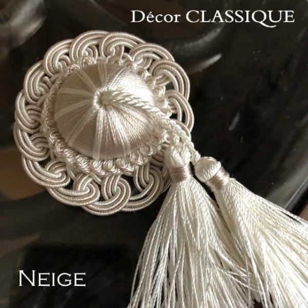 ロゼットタッセルデコール:裏にピンが付いていないタイプ:バッグチャーム・ハンドメイド素材にもおすすめ:Decor CLASSIQUE|decor-classique|13