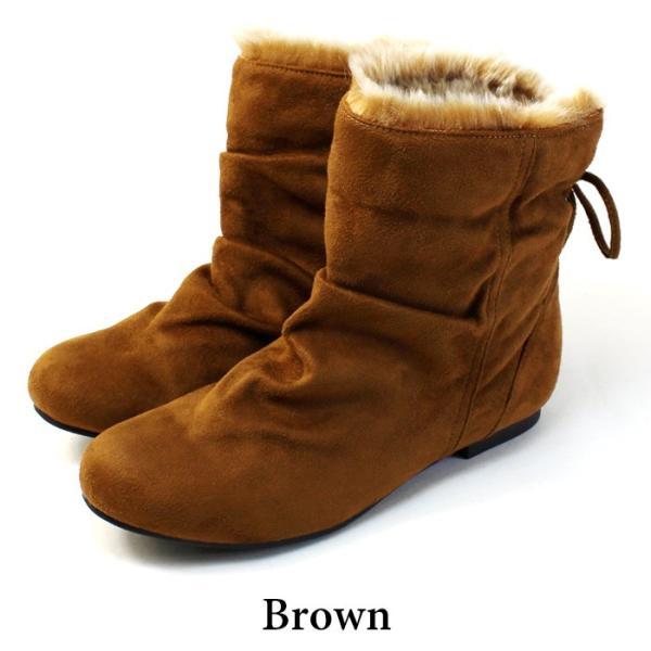 ブーツ ショートブーツ レディース 黒 低反発 大きいサイズ ファー りぼん ヒール ローヒール 特価の為返品交換不可 / 74-63ys412|decorate|15
