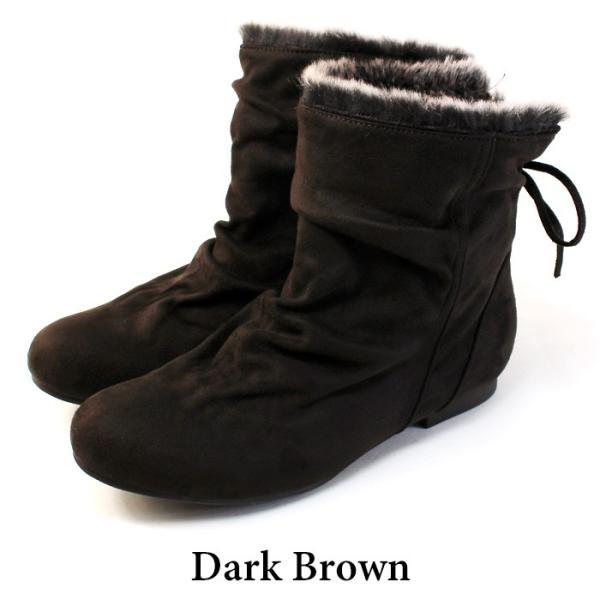 ブーツ ショートブーツ レディース 黒 低反発 大きいサイズ ファー りぼん ヒール ローヒール 特価の為返品交換不可 / 74-63ys412|decorate|17
