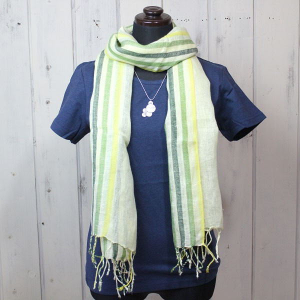 ストール ショール(リネン100%・ストライプストール)スカーフ 麻100% スカーフ UV 紫外線対策(メール便可)|decoya2|09