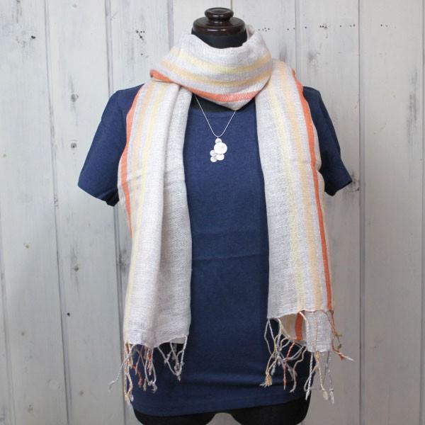 ストール ショール(リネン100%・ストライプストール)スカーフ 麻100% スカーフ UV 紫外線対策(メール便可)|decoya2|07