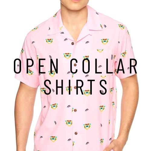開襟シャツ オープンカラーシャツ
