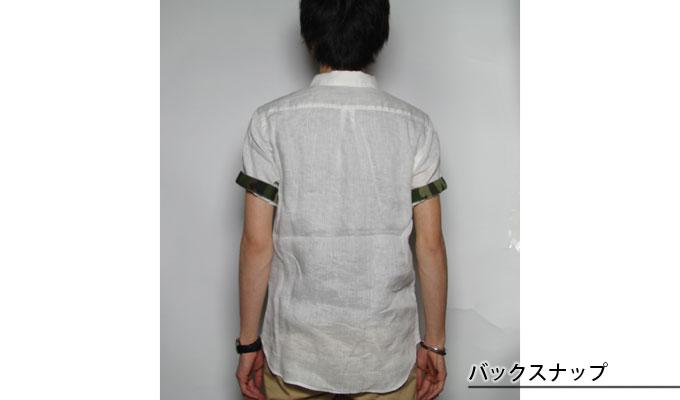 O'DESEO,オデセオ,リネン,半袖シャツ,742202