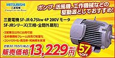 三菱電機 SF-JR 0.75kw 4P 200V モーター SF-JRシリーズ(三相・全閉外扇形)