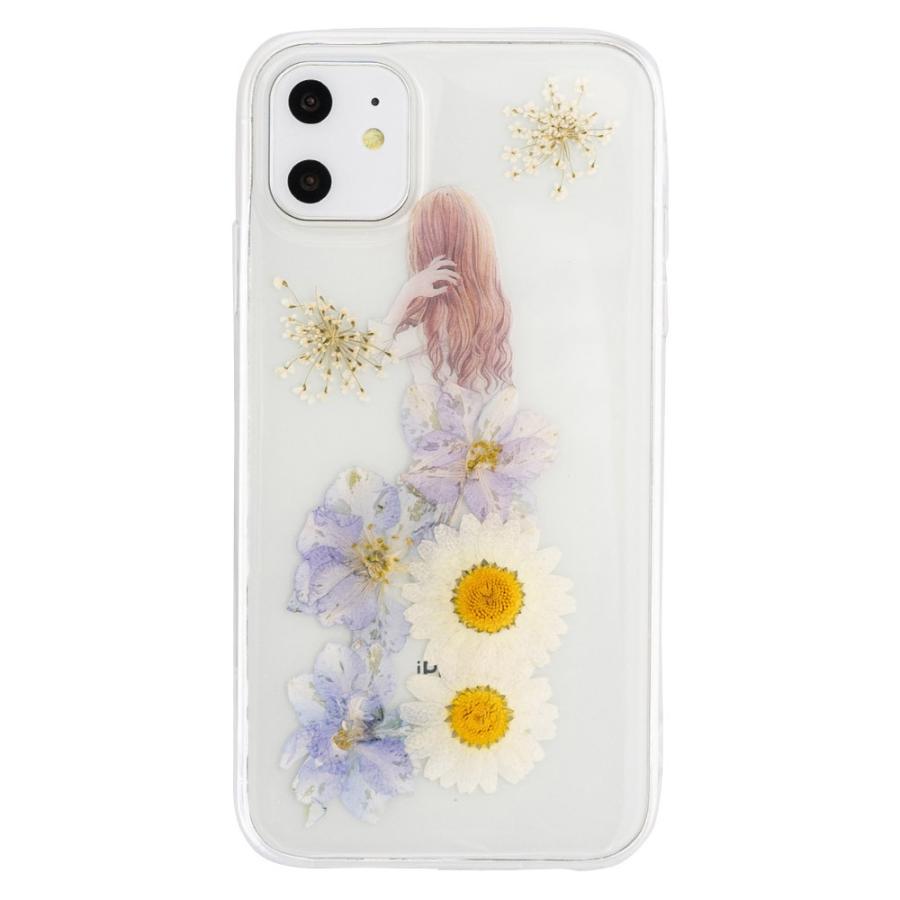 iPhone11 ケース アイフォン11 ケース iPhone8 ケース iPhone11proケース XR ケース 花 押花 かわいい dm「プリンセス」|designmobile|16