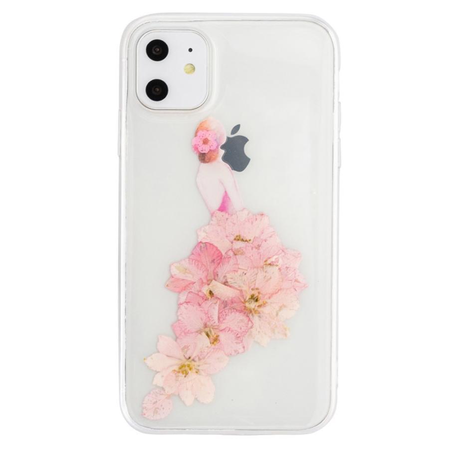 iPhone11 ケース アイフォン11 ケース iPhone8 ケース iPhone11proケース XR ケース 花 押花 かわいい dm「プリンセス」|designmobile|17