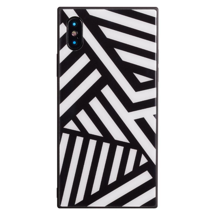 iPhone8 ケース SE2 XR ケース スマホケース XS MAX X iPhone7 iPhoneケース かわいい ガラス dm「スクエアタイル」|designmobile|21
