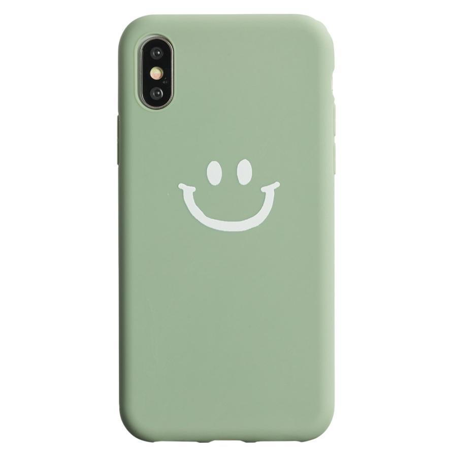 iPhone8 ケース SE2 XR ケース スマホケース XS MAX X iPhone7 iPhoneケース かわいい スマイル マーク ニコちゃん 緑 dm「ベイクドニコ」 designmobile 16