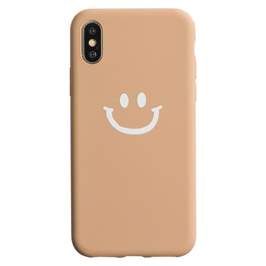 iPhone8 ケース SE2 XR ケース スマホケース XS MAX X iPhone7 iPhoneケース かわいい スマイル マーク ニコちゃん 緑 dm「ベイクドニコ」 designmobile 17