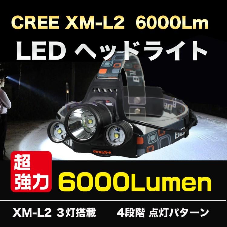 ヘッドライト6000ルーメン
