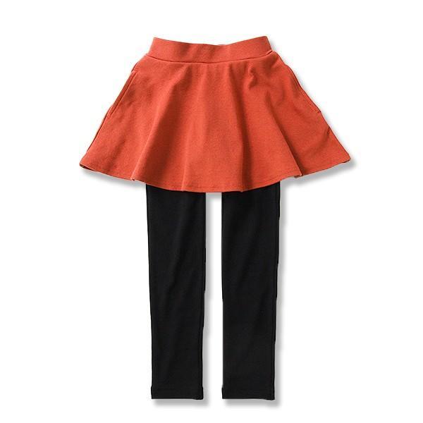 子供服 女の子 スカッツ 10分丈 韓国子供服 スカート付き レギンス 無地 キッズ 子ども 秋 冬 セール ×送料無料 M1-2|devirockstore|24
