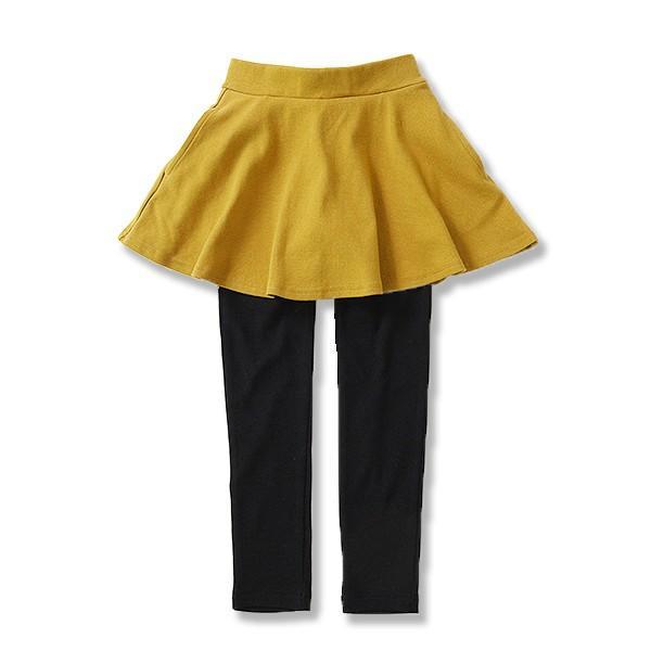 子供服 女の子 スカッツ 10分丈 韓国子供服 スカート付き レギンス 無地 キッズ 子ども 秋 冬 セール ×送料無料 M1-2|devirockstore|25