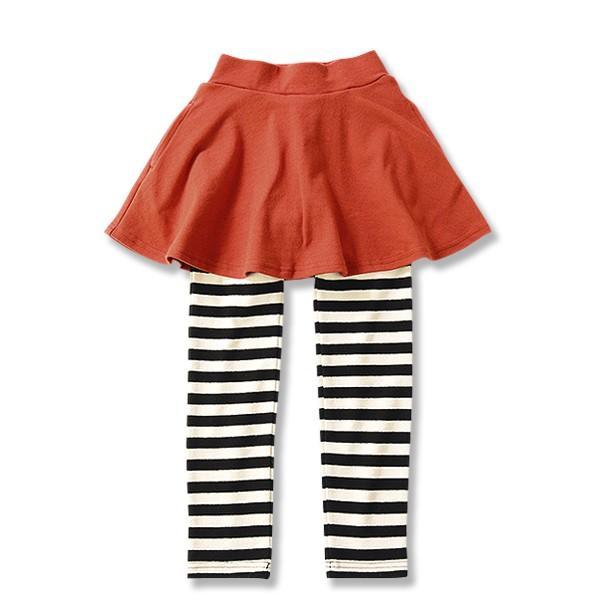 子供服 女の子 スカッツ 10分丈 韓国子供服 スカート付き レギンス 無地 キッズ 子ども 秋 冬 セール ×送料無料 M1-2|devirockstore|36