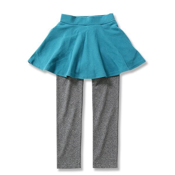 子供服 女の子 スカッツ 10分丈 韓国子供服 スカート付き レギンス 無地 キッズ 子ども 秋 冬 セール ×送料無料 M1-2|devirockstore|26