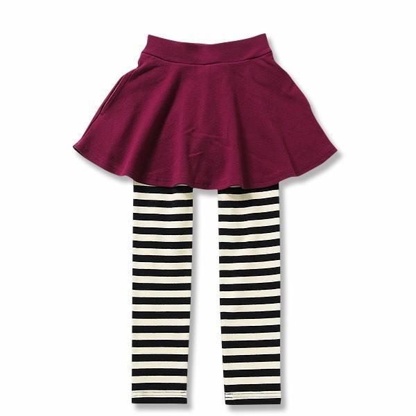 子供服 女の子 スカッツ 10分丈 韓国子供服 スカート付き レギンス 無地 キッズ 子ども 秋 冬 セール ×送料無料 M1-2|devirockstore|33