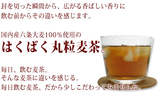 香ばしいはくばく丸粒麦茶