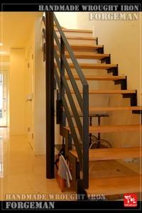 階段フェンス,ロートアイアン,階段手摺り