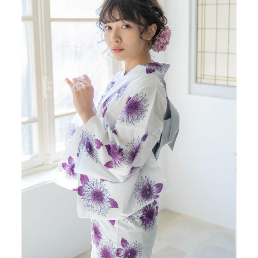 レディース 浴衣 浴衣 フルセット (ゆかた 作り帯 ゲタ 着付けカタログ 腰ひも) 浴衣 3点セット +2 計5点 可愛い 2021|dita|24