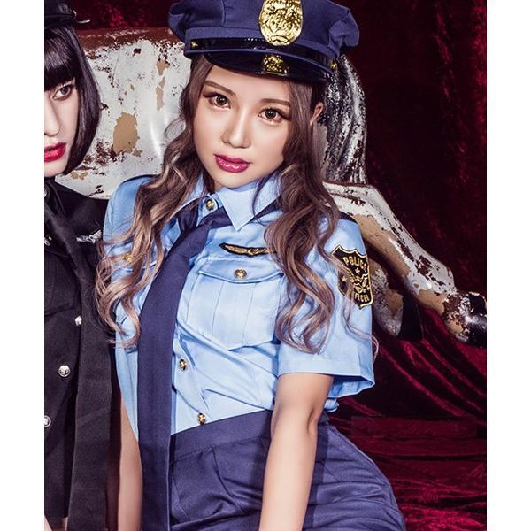 ハロウィン コスプレ ポリス コスチューム 衣装 婦人警官  レディース 仮装 計5点フルセット|dita|17
