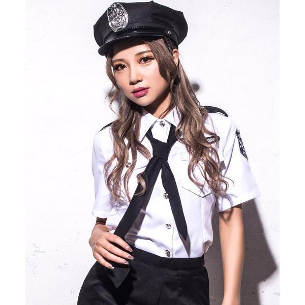 ハロウィン コスプレ ポリス コスチューム 衣装 婦人警官  レディース 仮装 計5点フルセット|dita|16