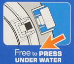 【ダイバーズウォッチ】水深100mでボタン操作可能