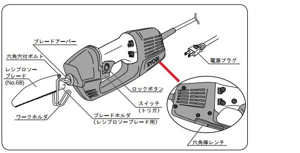 リョービ 電気のこぎり 電動ノコギリ   ASK-1000