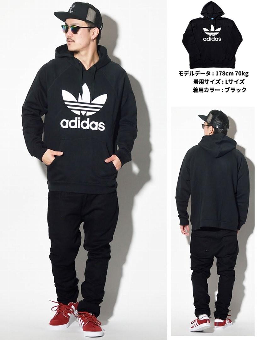 アディダス パーカー メンズ プルオーバー adidas Trefoil Hoodie AB8291 ブラック 黒 メンズ ファッション