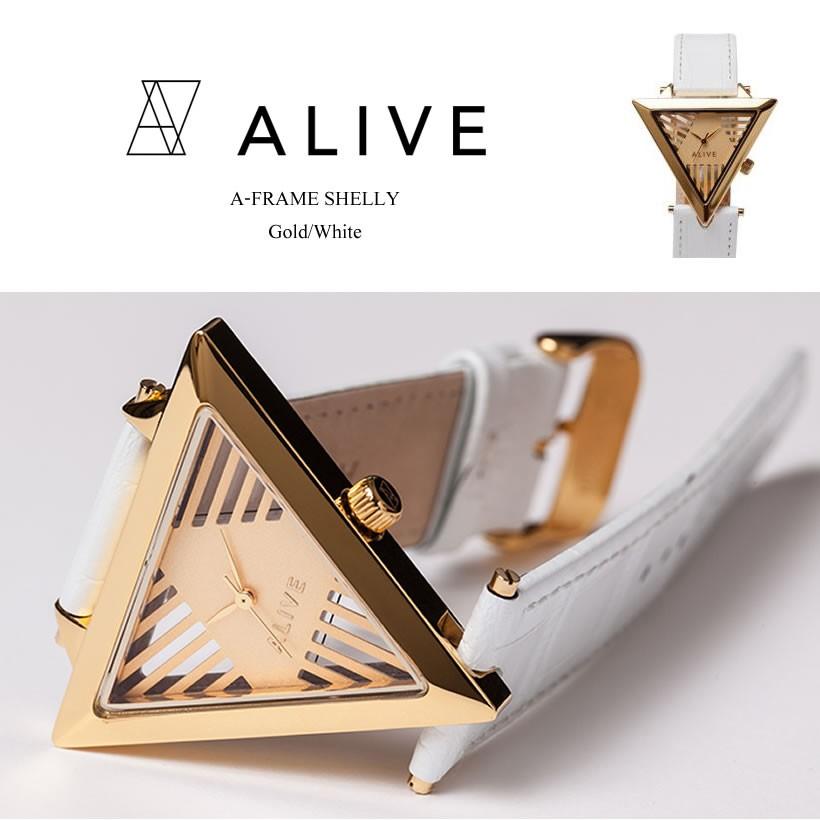 インパクトある三角デザインがオシャレな腕時計【ALIVE】
