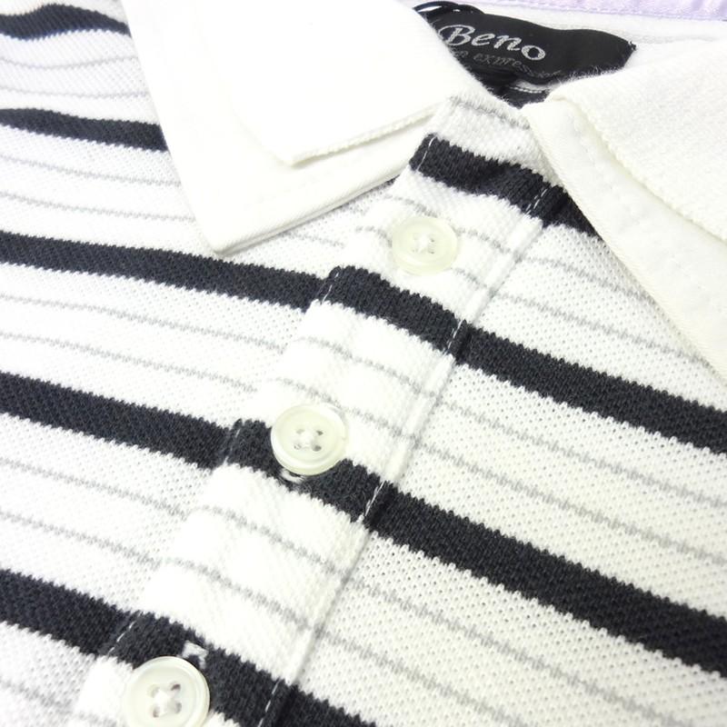 ポロシャツ メンズ 半袖 ボーダー ヒップホップ 服 B系 ストリート系 カジュアル ファッション