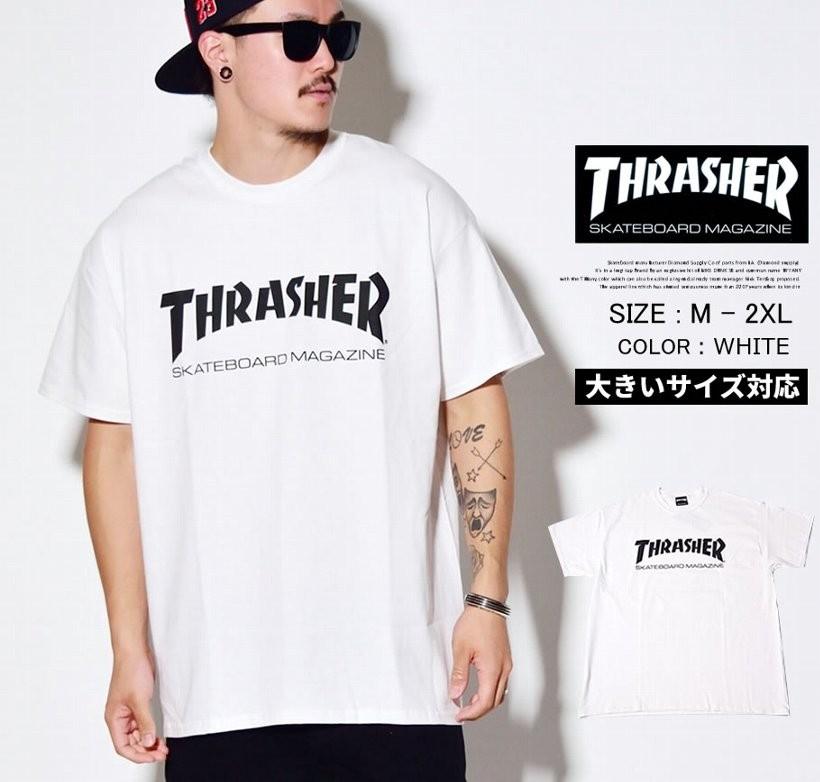 2016春夏モデル 新作 THRASHER(スラッシャー)ロゴTシャツ ストリート系 ファッション