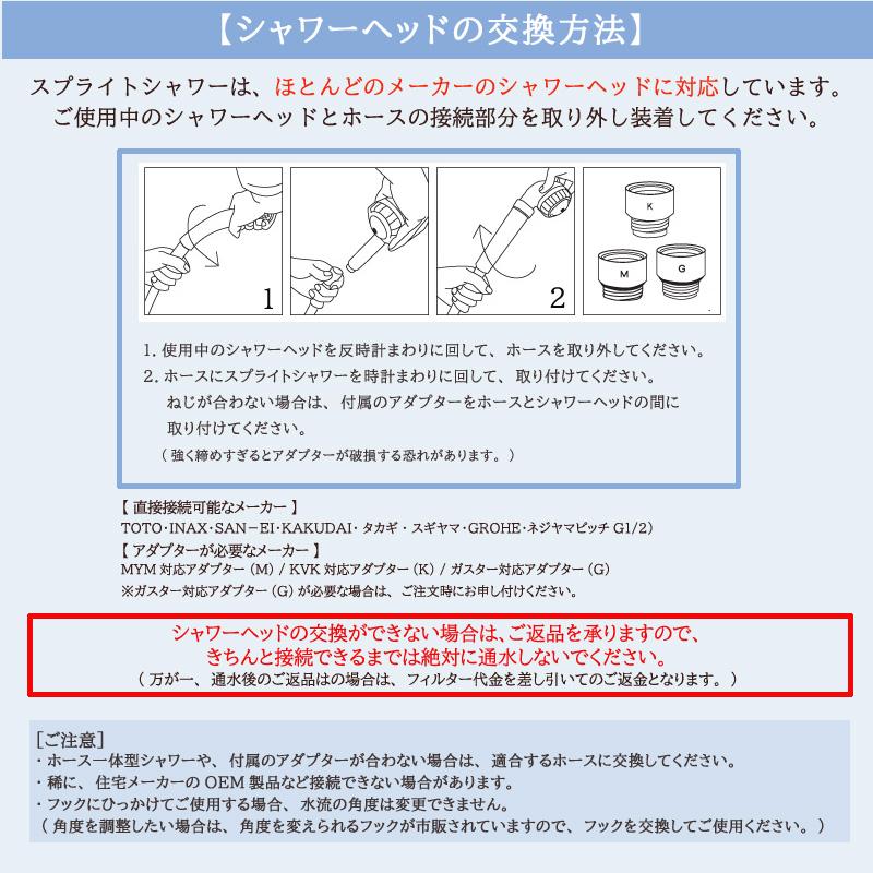 シャワーヘッド交換方法