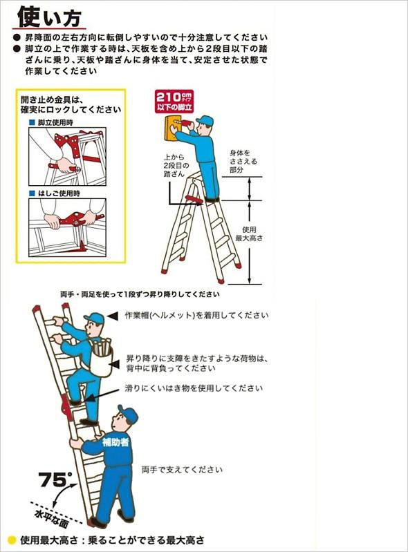 アルインコ はしご兼用脚立 使い方