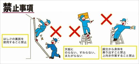 アルインコ はしご兼用脚立 禁止事項
