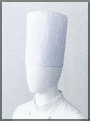 シェフ定番のプロ用厨房ホワイトコック帽
