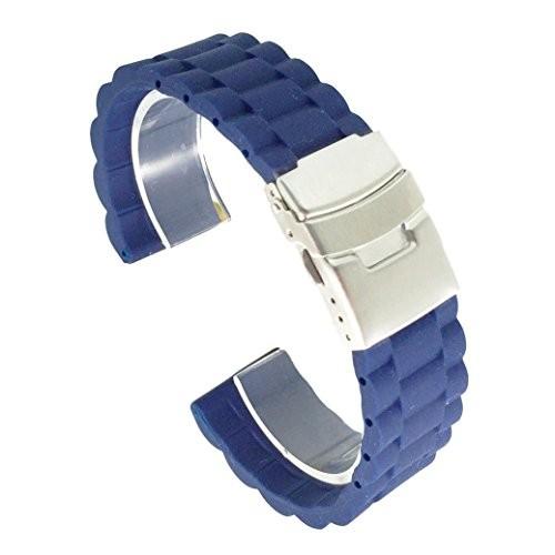 c7ca2d8cf3 (ドノロロジオ) DonOrologio 腕時計 シリコン ベルト 直カン ラバー バンド ダブルロック式 バックル 長さ 調整 交換用 工具 付  (三連風デザイン) /【Buyee】